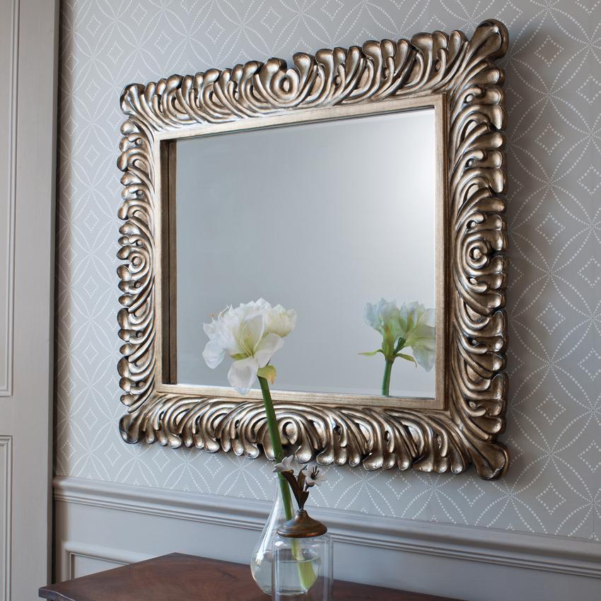 Декор настенных зеркал своими руками 92
